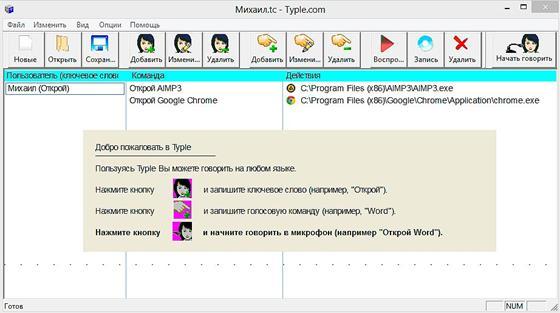 Скриншот программы typle