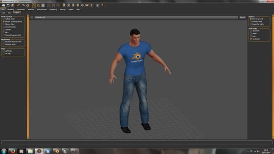 Скриншот программы makehuman