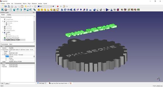 Скриншот программы freecad