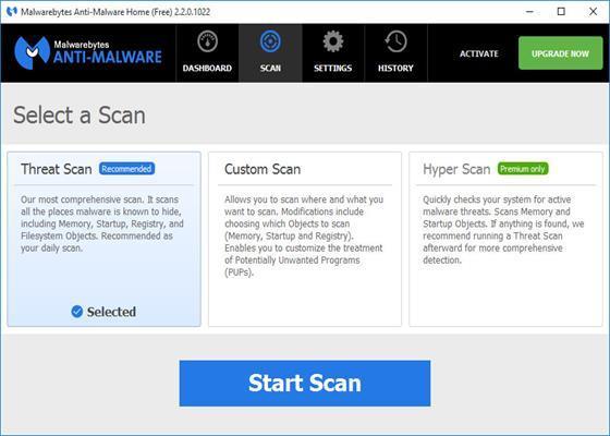 Скриншот программы malwarebytes anti malware для windows 10