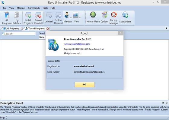 Скриншот программы revo uninstaller 3.1.2