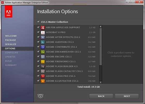 Скриншот программы adobe application manager