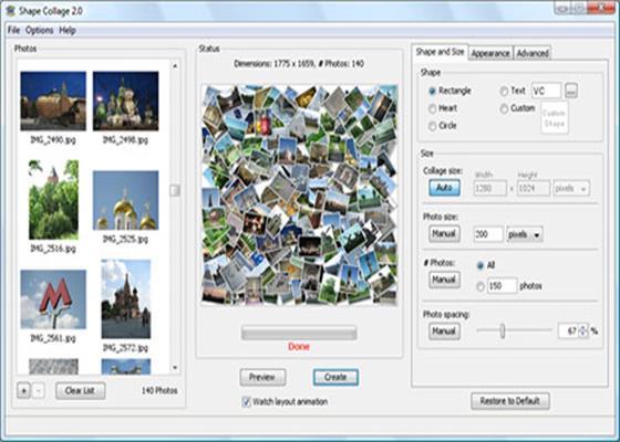 Скриншот программы photo collage