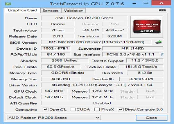 Скриншот программы gpu-z