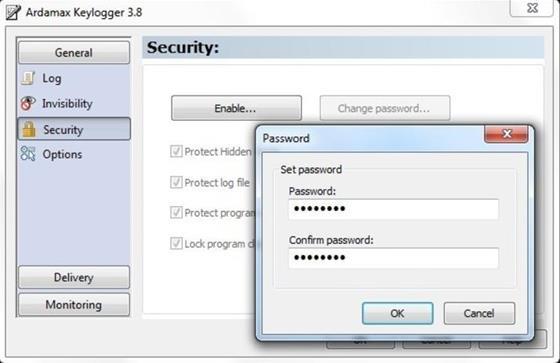 Скриншот программы ardamax keylogger