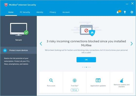 Скриншот программы mcafee internet security