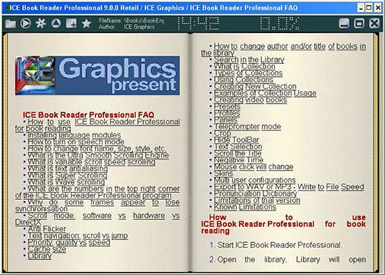 Скриншот программы ice book reader professional
