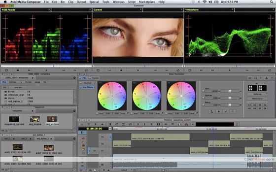 Скриншот программы avid media composer