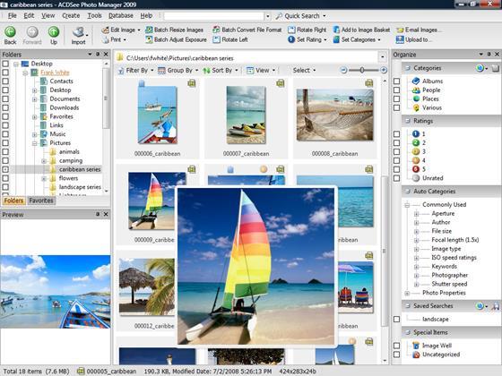 Скриншот программы acdsee photo manager