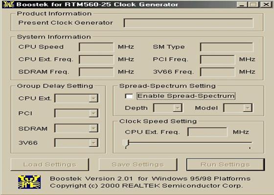 Скриншот программы boostek-9x