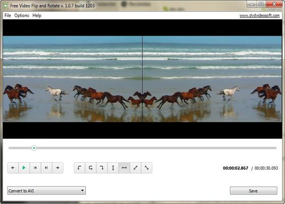 Скриншот программы free video flip and rotate