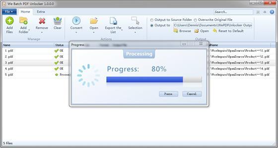 Скриншот программы pdf unlocker