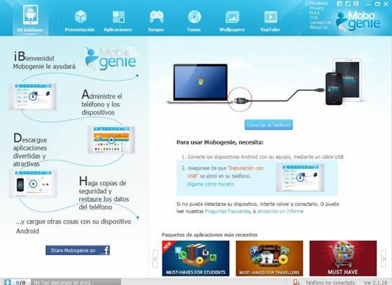 Скриншот программы mobogenie