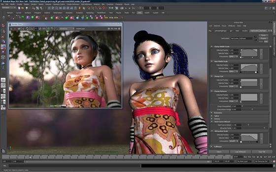 Скриншот программы autodesk maya