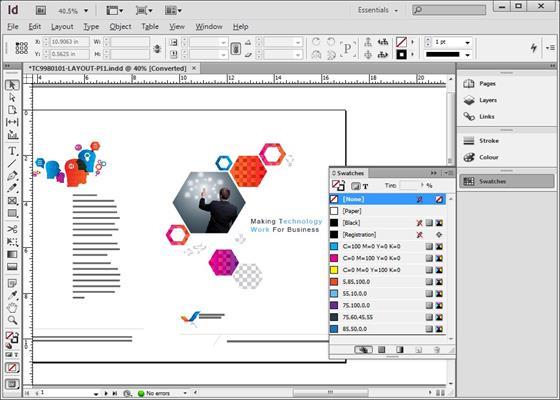 Скриншот программы adobe indesign