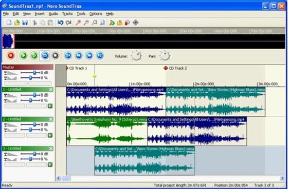 Скриншот программы nero soundtrax