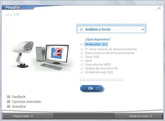 Скриншот программы privazer