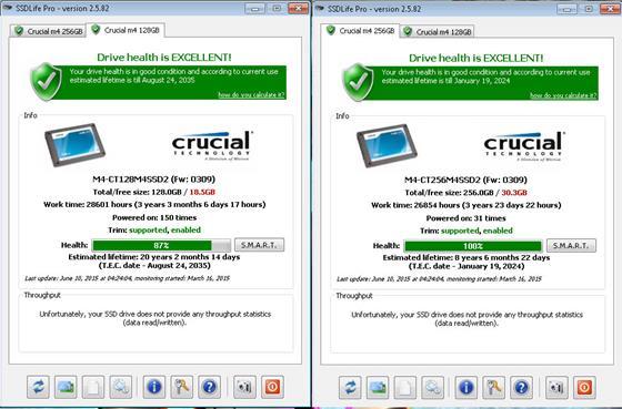 Скриншот программы ssdlife