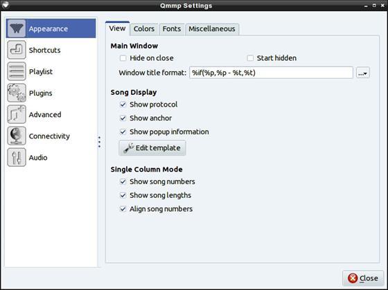 Скриншот программы qmmp