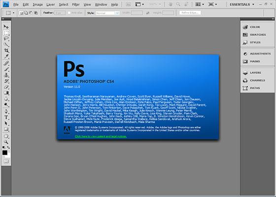 Скриншот программы adobe photoshop cs4