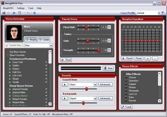 Скриншот программы morphvox junior