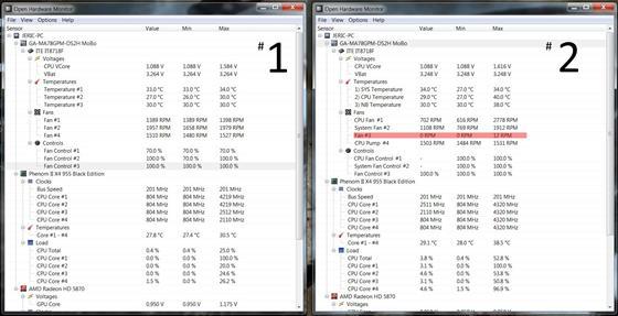 Скриншот программы open hardware monitor