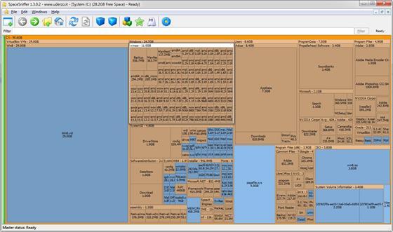 Скриншот программы spacesniffer