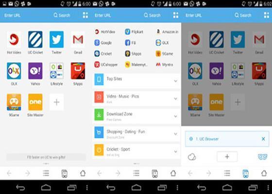 Скриншот программы uc browser для windows 10