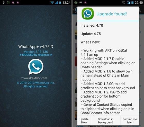 Скриншот программы whatsapp plus