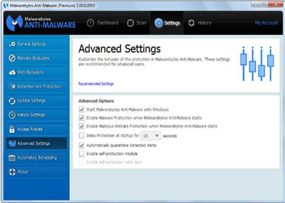 Скриншот программы malwarebytes anti-malware