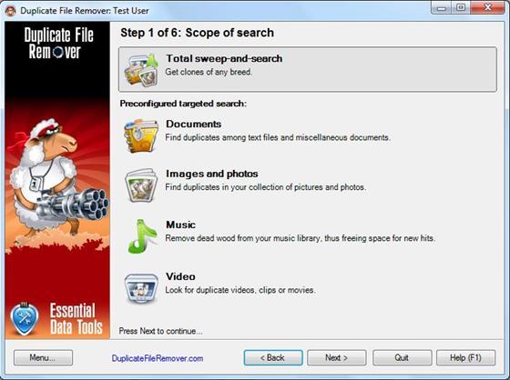 Скриншот программы duplicate file remover