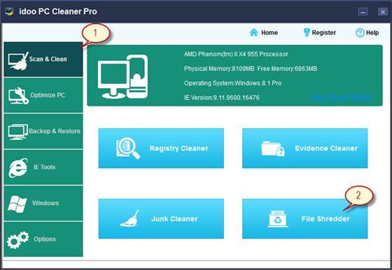 Скриншот программы pc cleaner