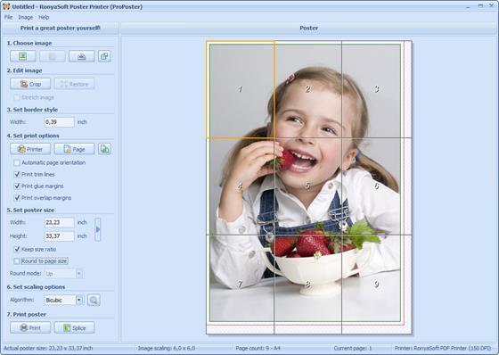 Скриншот программы poster printer
