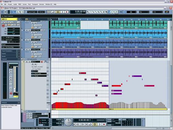 Скриншот программы cubase sx