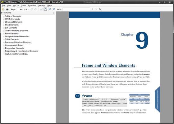Скриншот программы sumatra pdf
