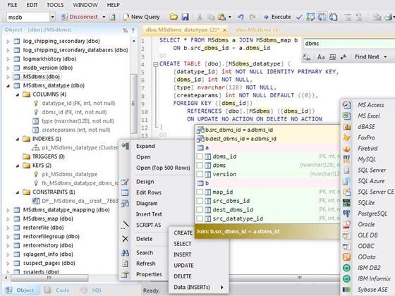 Скриншот программы database.net