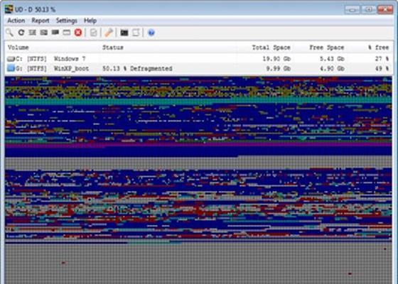 Скриншот программы ultradefrag
