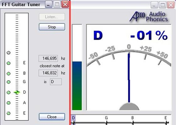 Скриншот программы guitar tuner