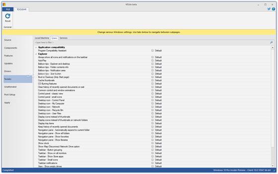 Скриншот программы ntlite