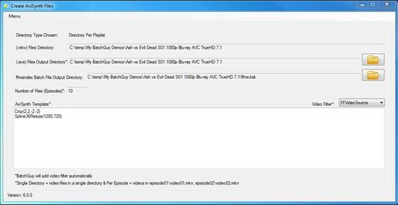 Скриншот программы avisynth