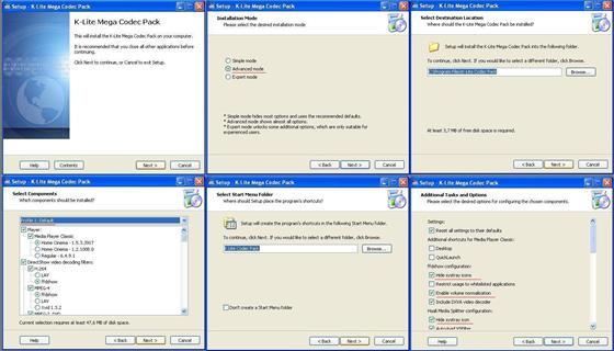 Скриншот программы k-lite mega codec pack
