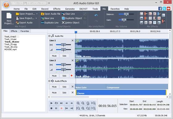 Скриншот программы avs audio editor