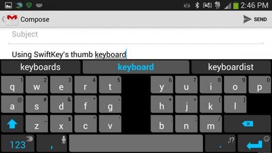 Скриншот программы swift keyboard