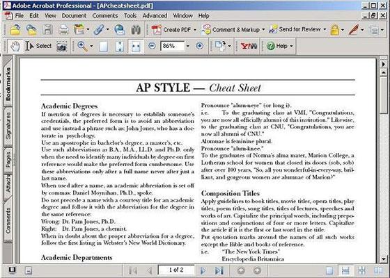 Скриншот программы adobe acrobat 11
