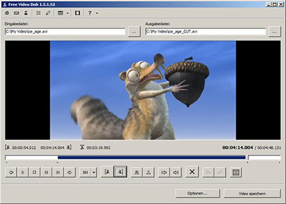 Скриншот программы free video dub для windows 10