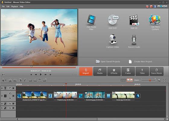 Скриншот программы movavi video editor