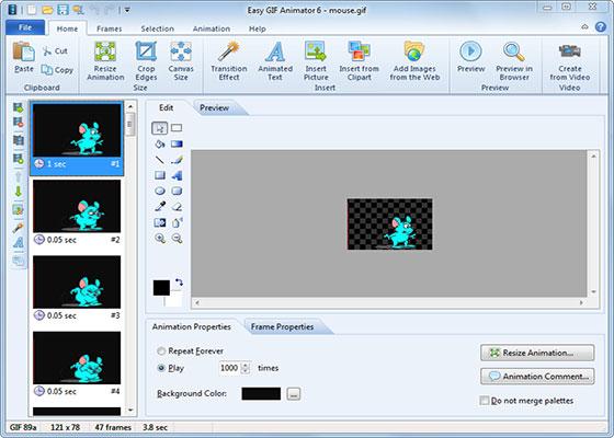 Скриншот программы easy gif animator