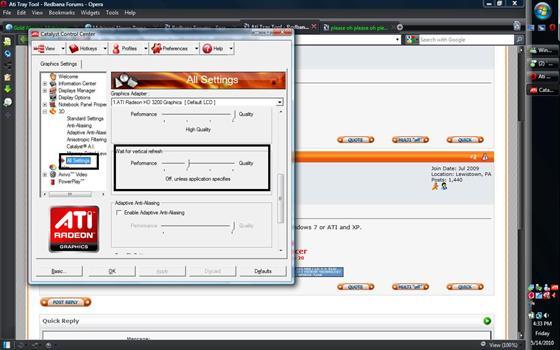 Скриншот программы ati tray tools