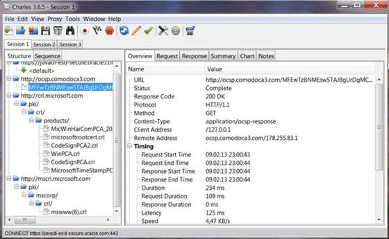 Скриншот программы charles