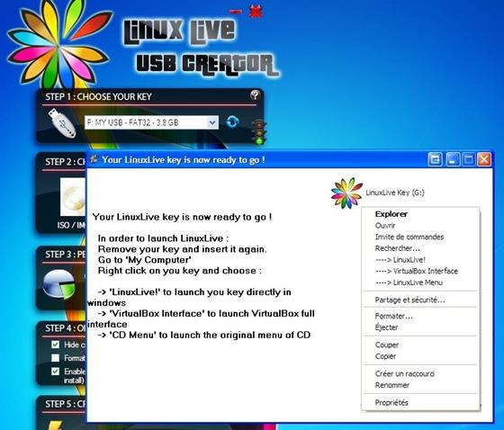 Скриншот программы linuxlive usb creator